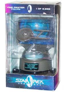 NEW Star Trek Champions USS ENTERPRISE NCC 1701 Limited Edition Pewter