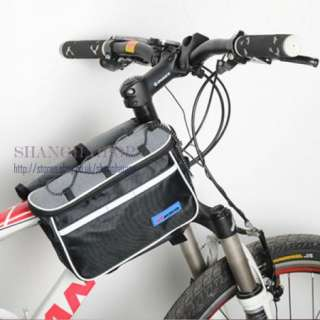 Bag Bicycle Cycling Front Frame Rack Tube Pouch Rain Cover