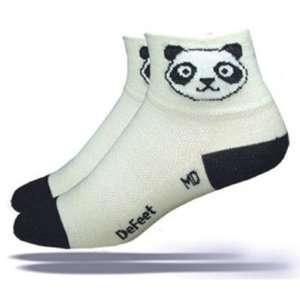 DeFeet Womens Wooleator Panda Cycling/Running Socks