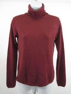 JIGSAW Red Silk Angora Turtleneck Sweater Top Sz S