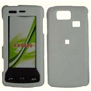 RUBBER WHITE HARD SNAP CASE COVER FOR LG VERSA VX9600