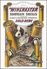 Winchester ShotGun Shells Sold Here Dog Quail Nostalgic Metal Tin Sign