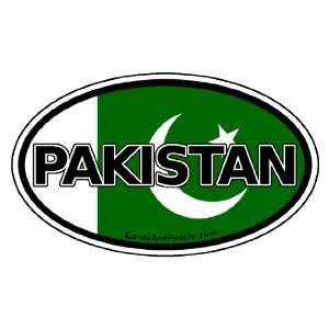 Pakistan Flag Car Bumper Sticker Decal Oval