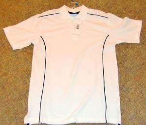 BNWT! Cutter & Bucks New Wave brand Golf Polo Shirt White S/S