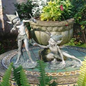 Classic Home Garden Fairy Pixie Collection Sculpture Statue   Set of 2
