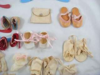 Vintage Antique 1930s   1950s Baby Doll Shoes Accessory 25 Piece Lot