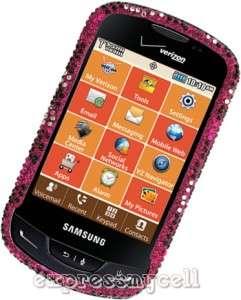 Premium BLING PINK HEART Case Cover Verizon SAMSUNG BRIGHTSIDE U380