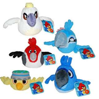 Angry Birds Plush   Rio   SET OF 5 (Blu, Nigel, Jewel, Pedro & Nico