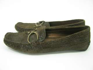 ANNE KLEIN Brown Suede Flats Loafers Shoes Sz 6.5