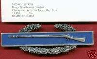 COMBAT INFANTRY BADGE 1st AWARD NEW IN PACK DATED 1990