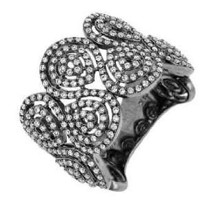 14K White Gold Diamond Ring (SI2 I1 clarity, G I color) Jewelry