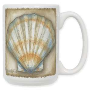 Clam Shell 15 Oz. Ceramic Coffee Mug: Kitchen & Dining