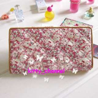 Romantic Hello Kitty Floret Long Wallet Purse Bag Pink