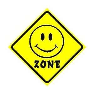SMILE ZONE happy face joke humor NEW sign: Home & Kitchen