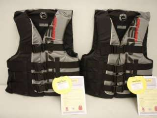 Youth/Petite/XS Ski Vest/Life Jacket 2 PACK Wakeboard/Water Sports New