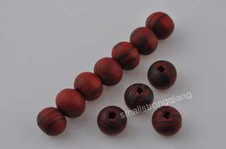 200 Pcs RED Wood Spacer Loose beads Bracelets Necklace findings charms