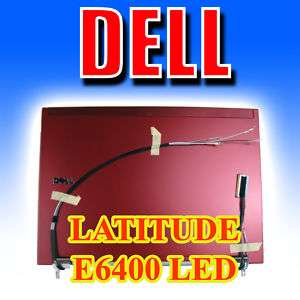 DELL Latitude E6400 LED LCD Back Lid Cover Cherry GN228