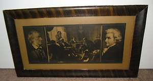 Antique Johnson Gordon Co. Chicago Print  lithograph