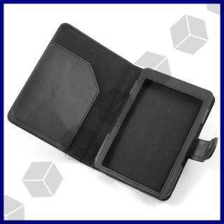 Black PU Leather Flip Case BOOK Cover for 6  Kindle 4 2011 New
