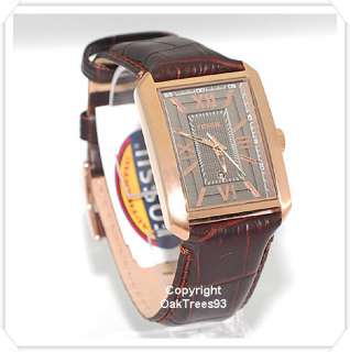FOSSIL MENS ROMAN ROSVE GOLD BROWN LEATHER WATCH FS4653
