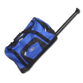 Amax Luggage 22 Carry On Size Wheeled Rolling Duffle Bag/Zebra/Peace