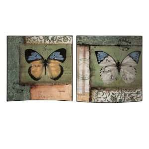 Contemporary Floral Butterfly Patterned Wall Panels
