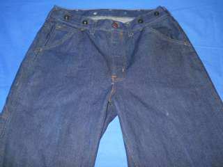vtg 70s BIG MAC UNION DENIM CARPENTER JEANS 32 x 30