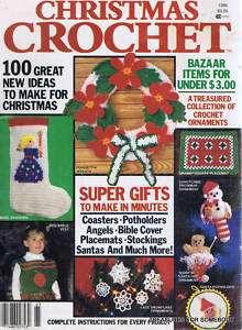 VTG Christmas Crochet Magazine 1986 100 Gift Ideas