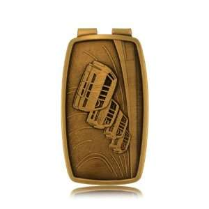 NASCAR Racing Cars Money Clip Mens Gold Plated Speedway