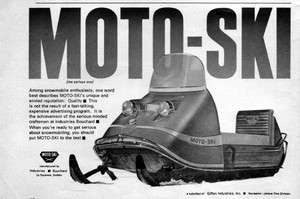 1969 Moto Ski Snowmobile Original Ad