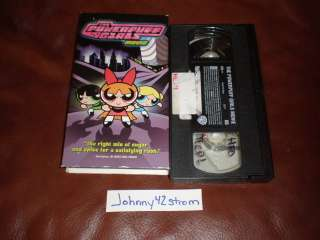 VHS The Powerpuff Girls Movie 2002 Cartoon Network Rare 085392301737