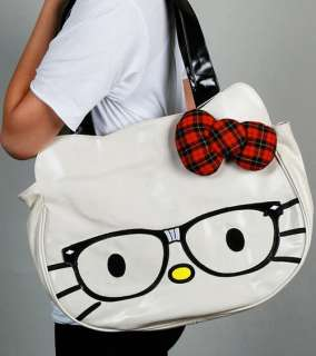 Loungefly ~ AUTHENTIC HELLO KITTY NERD FACE BAG TOTE
