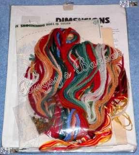Dimensions HOLLY SANTA Crewel Christmas Stocking Kit
