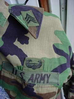 US Army 1st Air Cavalry Sergeant Camo Combat BDU Coat size Large
