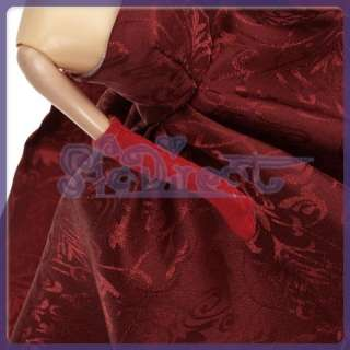 floral Handmade Princess Wedding Party Dress Gown GLOVES Outfit for