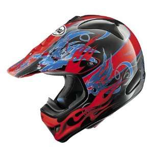Arai VX Pro 3 Wing Flame Full Face Helmet Medium  Red