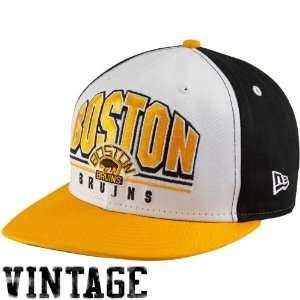 New Era Boston Bruins Black White Gold Monolith 9Fifty