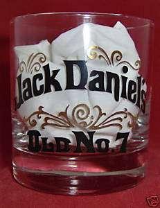 Jack Daniels Lowball Old Fashioned Rocks Glass Old #7