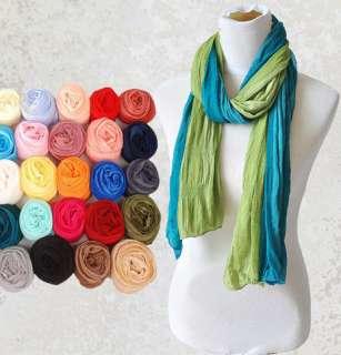 Women Girls Soft Long Wrap Chiffon Scarf 13 Solid Colors U Pick FREE
