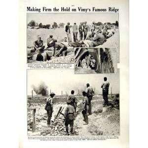 1917 WORLD WAR GERMAN MACHINE GUN VIMY SOLDIERS THELUS