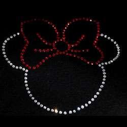 Minnie Mouse Shaped Rhinestone Transfer