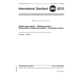 ISO 82151985, Surface active agents    Washing powders