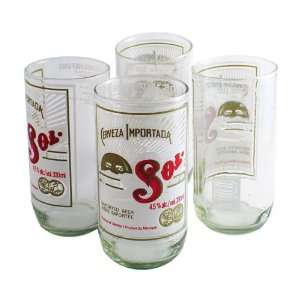 Recycled Sol Cactus Tumbler Glasses (Set of 4) Kitchen