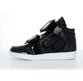NEW Women HIGH TOP FASHION STRAP SNEAKERS Basketball Shoes BLACK, US 6