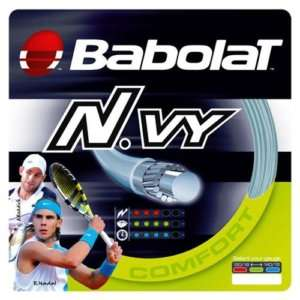 BABOLAT N.VY 16g TENNIS STRING (BLUE SPIRAL) FULL SET