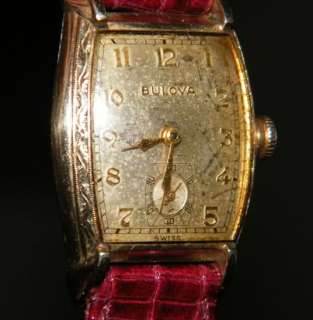 Deco 1948 Bulova Swiss 10k GF CAL. 10BC Arnold 17 Jewels Watch