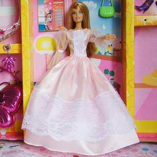 New Fashion Handmade Princess Clothes Dress Gown Outfit for Barbie
