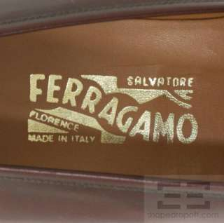 Salvatore Ferragamo Mens Oxblood Leather Penny Loafers Size 11.5D