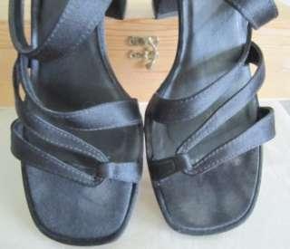 West Brazil Womens Black Sandals Wide 3 Heels Open Heels Shoes 8.5 M