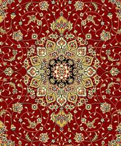 Lyndhurst Collection Red/ Ivory Rug (53 x 76)